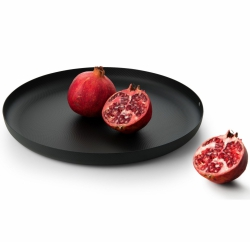 Alessi TEXTURE Taca Okrągła 35 cm Czarna