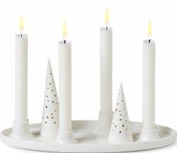 Kähler NOBILI Świecznik Świąteczny 33x13 cm Biały