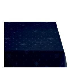 Sodahl CHRISTMAS STELLA Obrus Świąteczny na Stół 140x220 cm Granatowy
