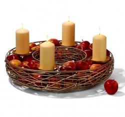 Philippi TAHOMA Świąteczny Świecznik Adwentowy XXL Złoty