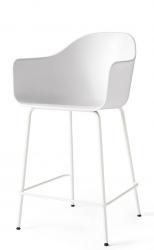Menu HARBOUR Krzesło Barowe 102 cm Hoker Jasnoszary - Siedzisko Białe