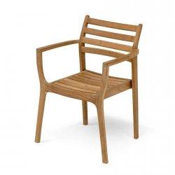 Skagerak ADRIA Krzesło Ogrodowe - Drewno Tekowe