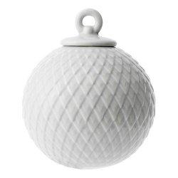 Lyngby Porcelain RHOMBE Bombka Porcelanowa - Szara