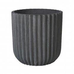 Broste Copenhagen FIBER Donica z Włókna Cementowego XL Ciemnoszara