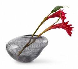 Philippi CARLA Szklany Wazon do Kwiatów 24 cm Szary