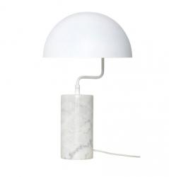 Hübsch MARBLE Marmurowa Lampa Stołowa - Biała