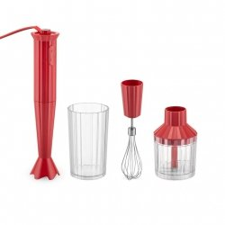 Alessi PLISSE Blender Ręczny + Akcesoria - Czerwony
