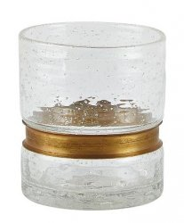 Villa Collection RUSTIC Szklanki do Wody ze Złotym Zdobieniem 300 ml 6 Szt.