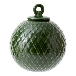 Lyngby Porcelain RHOMBE Bombka Porcelanowa - Zielona