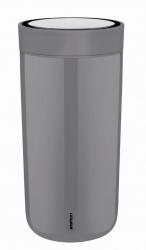 Stelton TO GO CLICK Stalowy Kubek Termiczny 400 ml Szary Granite Grey