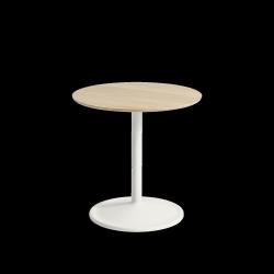 Muuto SOFT SIDE Stolik Okrągły 48 cm Biały / Blat 48 cm Dąb Naturalny