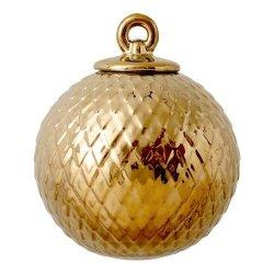 Lyngby Porcelain RHOMBE Bombka Porcelanowa - Złota