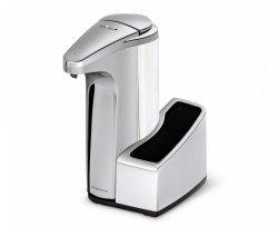Simple Human - Automatyczny Dozownik do Mydła lub Płynu z Czujnikiem + Pojemnik na Gąbkę - Srebrny