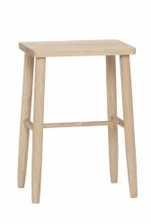 Hübsch OBAR Krzesło Barowe 52 cm Hoker Dębowy - Naturalny