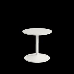 Muuto SOFT SIDE Stolik Okrągły 40 cm Biały / Blat 41 cm Linoleum