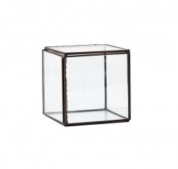 Villa Collection BOX Szkatułka - Szklany Pojemnik do Przechowywania 10x10 cm Czarny