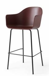Menu HARBOUR Krzesło Barowe 112 cm Hoker Czarny - Siedzisko Bordowe