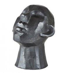 Villa Collection HOME Figura - Rzeźba Dekoracyjna 23 cm Głowa Ciemnoszara