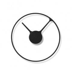 Stelton TIME Zegar Ścienny 30 cm - Czarny