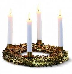 Philippi ARBRE Świecznik - Stroik Świąteczny - Złoty
