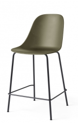 Menu HARBOUR SIDE Krzesło Barowe 102 cm Hoker Jasnoszary - Siedzisko Oliwkowe