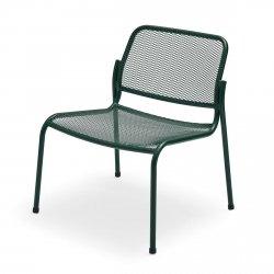 Skagerak MIRA Krzesło Ogrodowe LOUNGE - Ciemnozielone