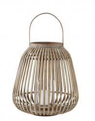 Villa Collection HURRICANE Lampion 40 cm Bambusowy