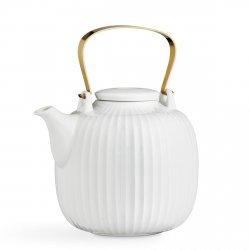 Kähler HAMMERSHØI Dzbanek do Herbaty 1,2 l Biały