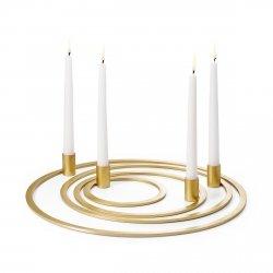 Philippi FOUR RINGS Świecznik Złoty