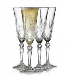 Lyngby Glass MELODIA Kryształowe Kieliszki do Szampana 160 ml 4 Szt.