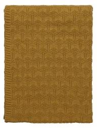 Sodahl DECO Bawełniany Pled - Koc 130x170 cm Złoty Golden