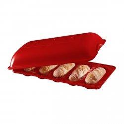Emile Henry - Ceramiczna Forma do Pieczenia 5 Mini Bagietek - Czerwona