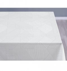 Sodahl COMPLEX DAMASK Obrus na Stół 140x270 cm Biały - Optical White
