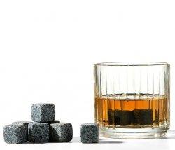 Nuance BAR Granitowe Kamienie - Kostki Chłodzące do Drinków 9 szt. Szare