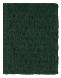 Sodahl DECO Bawełniany Pled - Koc 130x170 cm Ciemnozielony Deep Green