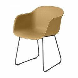 Muuto FIBER ARMCHAIR SLED BASE Krzesło - Rude / Metalowa Rama