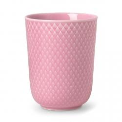 Lyngby Porcelain RHOMBE COLOR Kubek bez Ucha 330 ml Rożowy