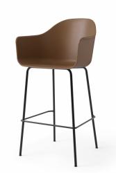 Menu HARBOUR Krzesło Barowe 112 cm Hoker Czarny - Siedzisko Khaki