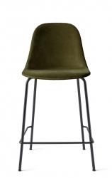 Menu HARBOUR SIDE Krzesło Barowe 102 cm Hoker Jasnoszary - Siedzisko Tapicerowane Odcień Zielony