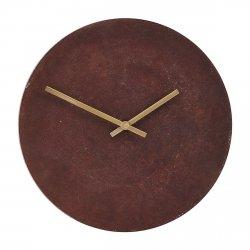 House Doctor INUSE Zegar Ścienny Brązowy - Złote Wskazówki