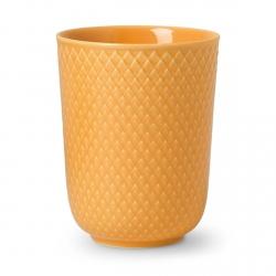 Lyngby Porcelain RHOMBE COLOR Kubek bez Ucha 330 ml Żółty