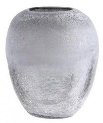 A Simple Mess OPLE Szklany Wazon do Kwiatów 14 cm Szaro/Srebrny
