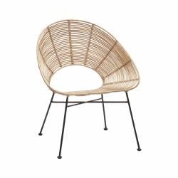 Hübsch LOUNGE Krzesło Ratanowe - Naturalne