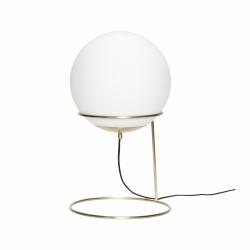 Hübsch BALL FRAME ONE Lampa Złota - Mleczny Klosz