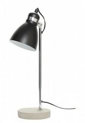 Hübsch TUBE Lampa Stołowa - Biurkowa Betonowa - Czarna