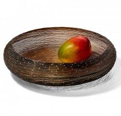 Philippi BOTSWANA Kosz - Misa na Owoce 36 cm Czarno/Złota