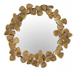 A Simple Mess LEUNA Okrągłe Zdobione Lustro Ścienne 52 cm Złote