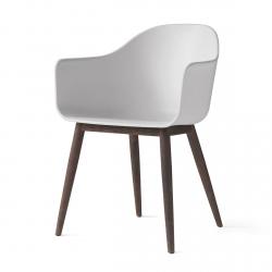 Menu HARBOUR Krzesło - Rama Drewniana Ciemna/Siedzisko Białe