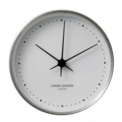 Georg Jensen KOPPEL Zegar Ścienny 22 cm Srebrny