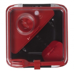 black+blum BOX APPETIT Pojemnik Lunch Box - Czarno/Czerwony